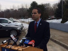 Taveras during a news conference earlier this year.