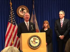 Gov. Lincoln Chafee, Deputy Assistant Attorney General Eve Hill and US Attorney Peter Neronha announce a plan to get developmentally disabled into jobs.