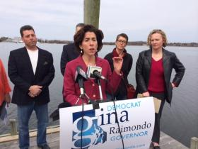 Treasurer Gina Raimondo rolled out her tourism plan in Bristol as part of her campaign for governor.