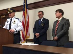 North Kingstown Police Chief Thomas Mulligan, US Marshal Jamie Hainsworth and Chief US District Court Judge William Smith say they're heartbroken the loss of McKnight.