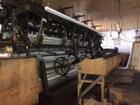 York Roberts has 13 leavers looms in his shop in West Greenwich.