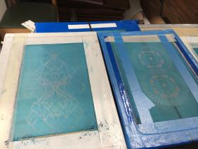 An example of the screen used to create a screen print