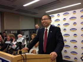Cranston Mayor and Republican gubernatorial candidate Allan Fung has already taken shots at fellow republican Ken Block.