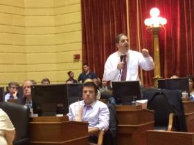 Rep Marcello supporting an amendment for an independent prosecutor on 38 Studios. The amendment failed by a large margin.