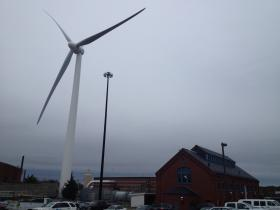 Wind turbines in the Port of Providence