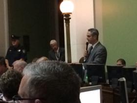 Senate Finance chairman Daniel DaPonte during the budget discussion.