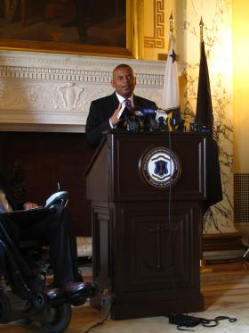 The federal government may not be able to fully reimburse Rhode Island and other states for transportation projects beginning in August, said U.S. Secretary of Transportation Anthony Foxx.