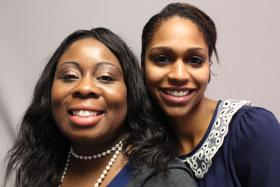 Loretta Johnson (left) with colleague Belinda DePina.