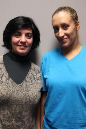 Michelle Tavares (right) with her case manager, Alice Knight.