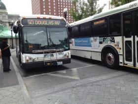 RIPTA buses at Kennedy Plaza in downtown Providence