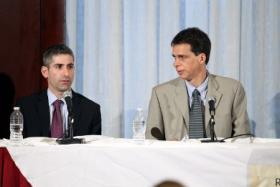 Christopher Koller, at right