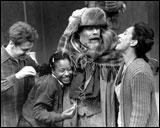 Stephen Thorne as Henry, Nehassaiu deGannes as Gladys, William Damkoehler as Mr. Antrobus and Phyllis Kay as Mrs. Antrobus