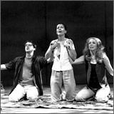 Matthew Boston as Edward, Angela Brazil as Victoria and Amy Van Nostrand as Lin.
