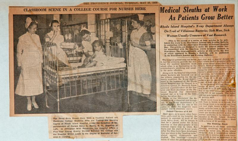 Nurses featured in Providence Journal 1938