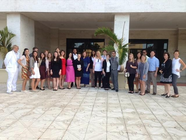 URI political science and nursing students visiting the National Palace of the Dominican Republic