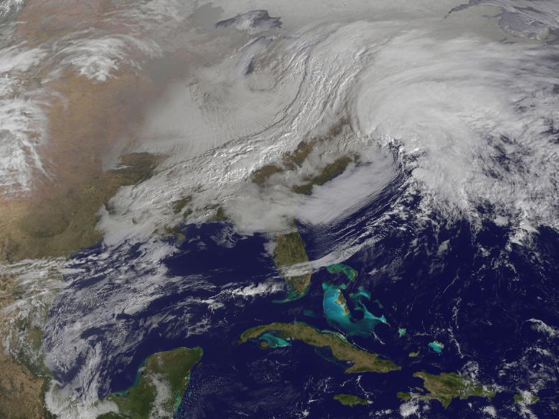The Blizzard of 2013 as seen from space