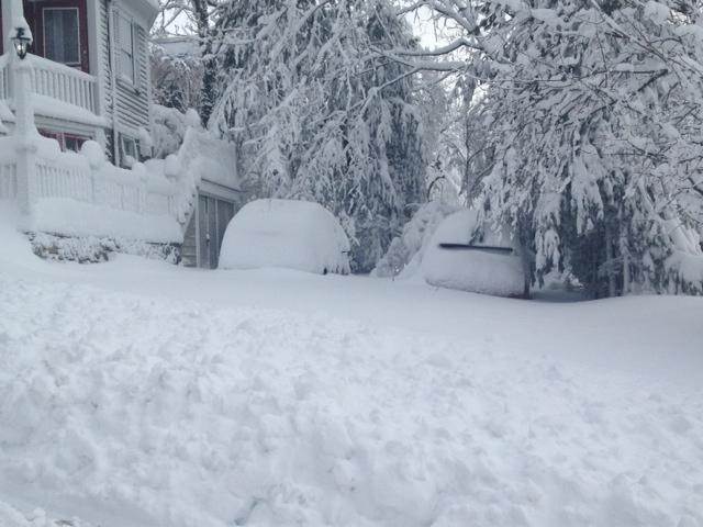 Buried cars on college hill