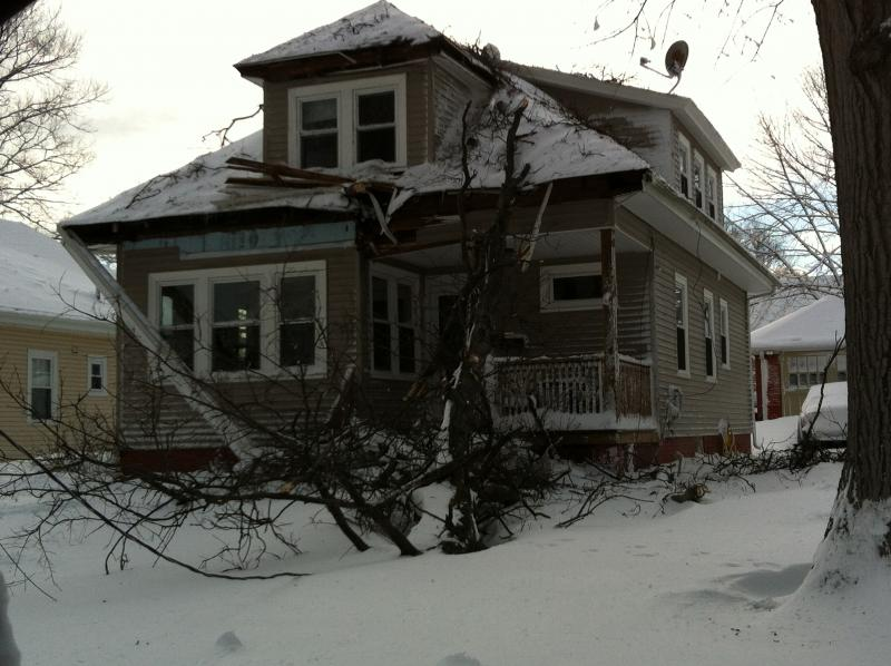 On Monday, tree down in North Providence