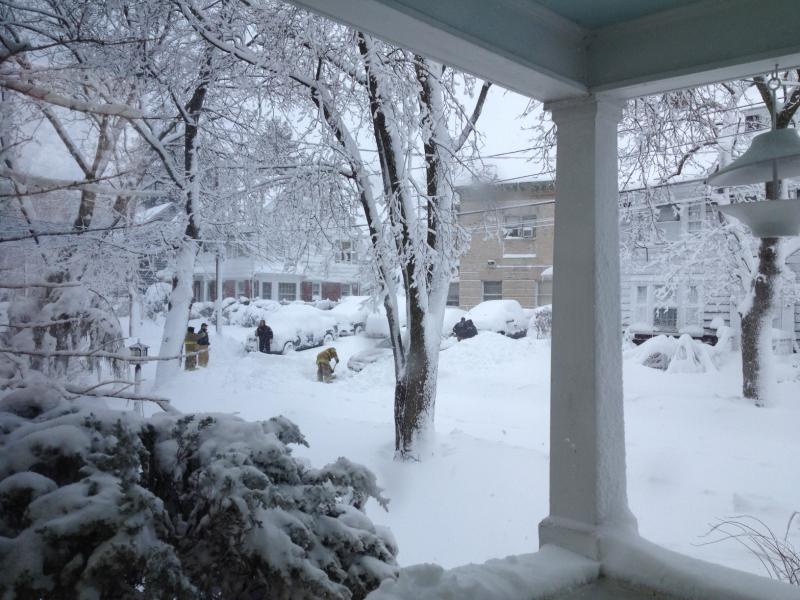 Providence firefighters dig out