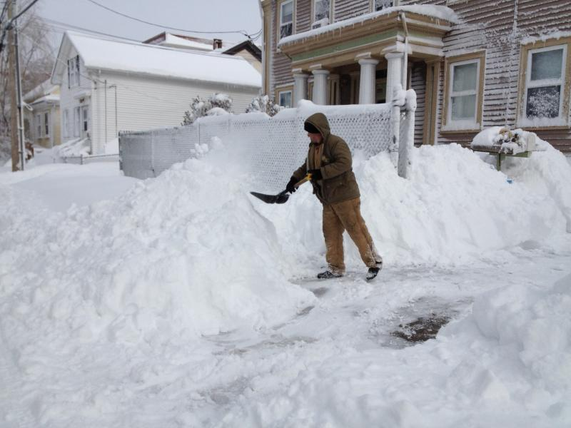 Saturday digging out Federal Hill