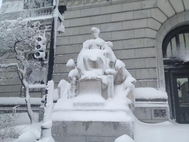 Snowy Lady Justice