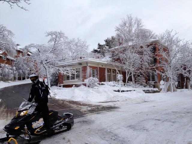Snow Mobile on Benefit Street