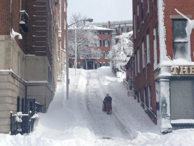 College Hill Alley Plowed