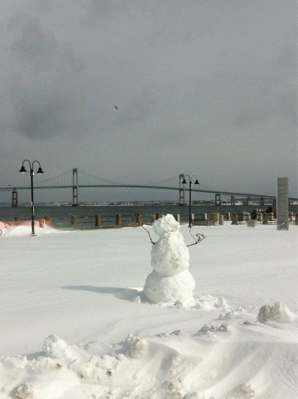 Snowman in Jamestown