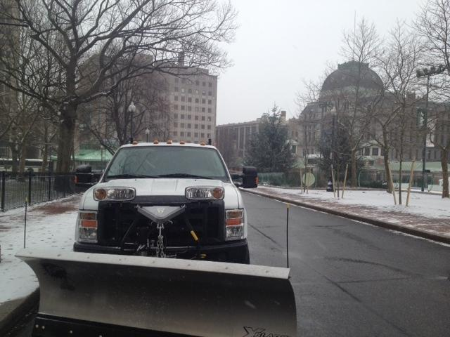 Parked Snow Plow