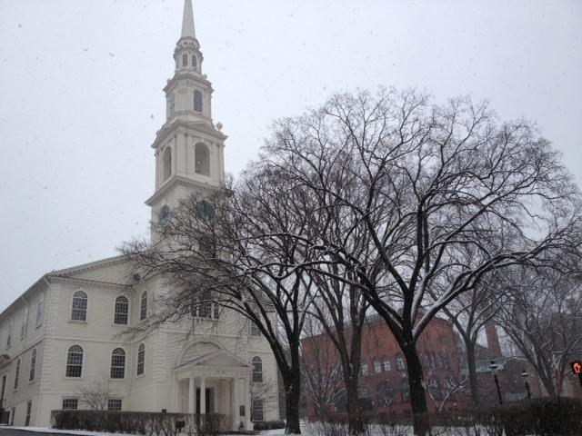 Snowy First Baptist in Providence