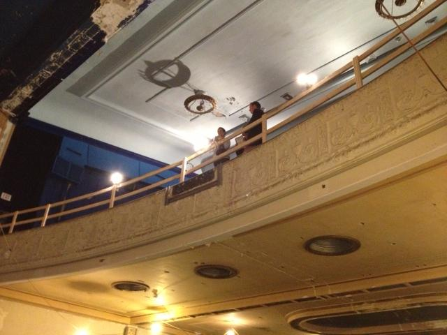 The balcony overlooking the stage.
