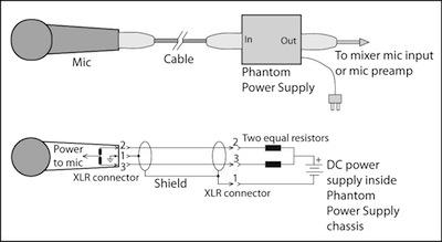 Phantom Power circuit diagram