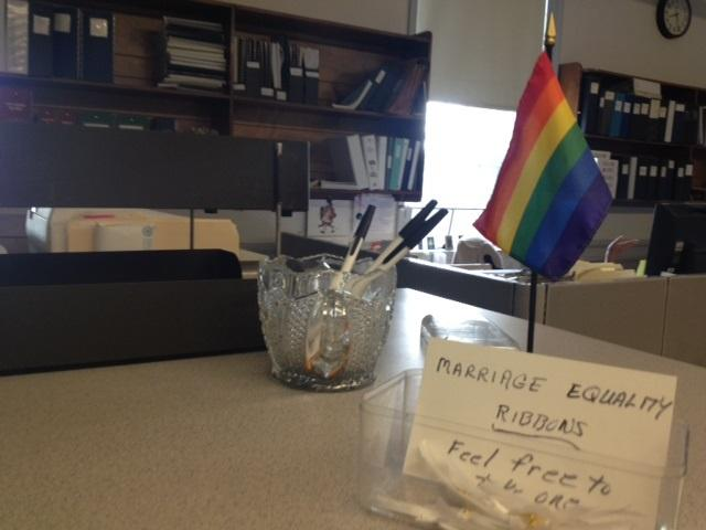 Cranston City Clerk's office offering ribbons to any couple seeking a license on August 1st.