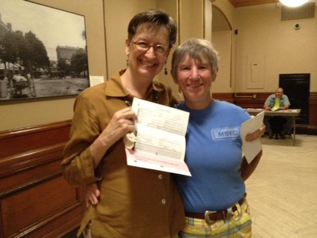 Dorsey Baker and Lisa Kesser arrived early Thursday morning at Providence City Hall to get a marriage license.