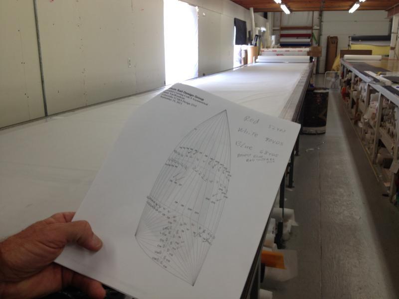 Design for a sail made of dozens of pieces.