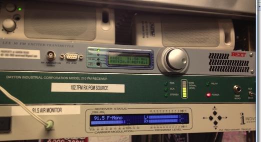 WCVY temporary transmitter