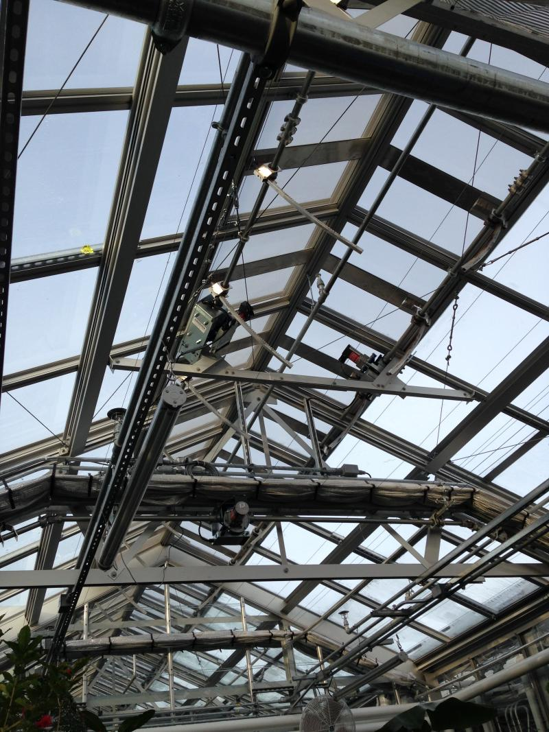 This upcoming summer will put the rooftop greenhouse to the test. Researchers will turn to the basement's growth chambers and rooms to better control climate conditions on those really hot days.