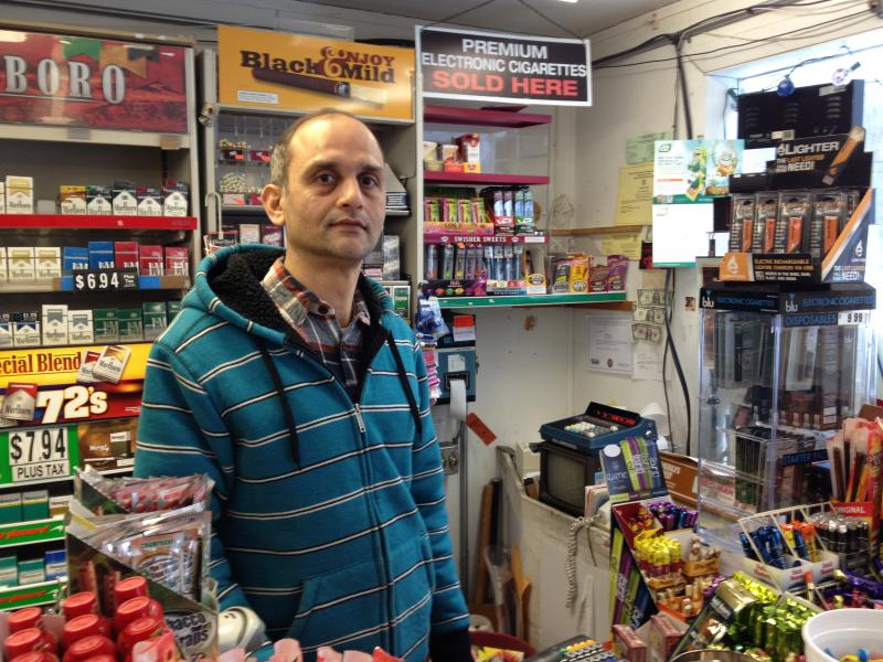 BD Food Mart owner Hitesh Mehta is stocked and ready for the storm.