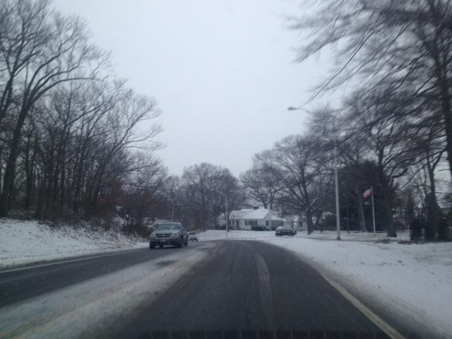 Traffic slow on Veterans Parkway in East Providence during the Thursday morning commute.