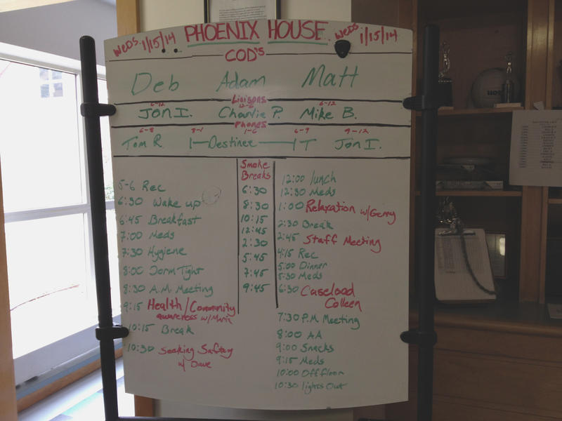 The daily schedule at Phoenix House, an addiction treatment facility