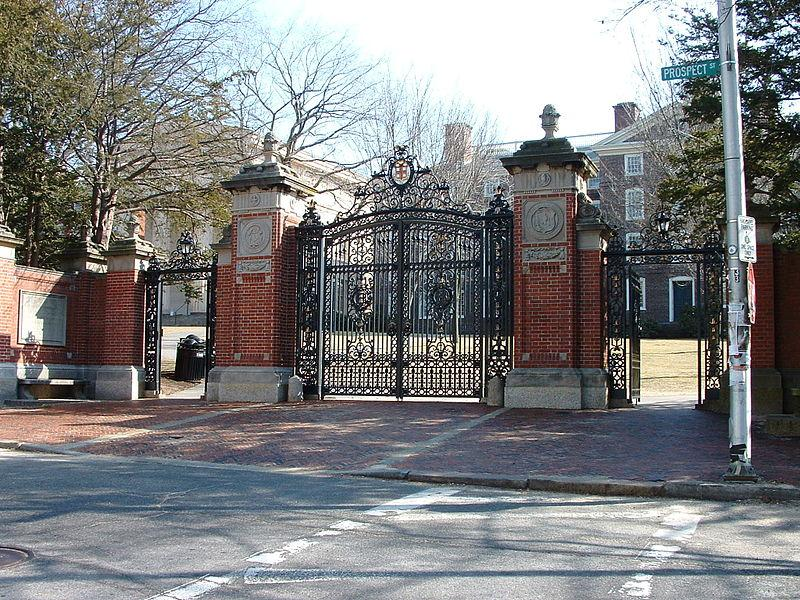 The Van Wickle Gates stand between Brown's central campus and Downcity Providence
