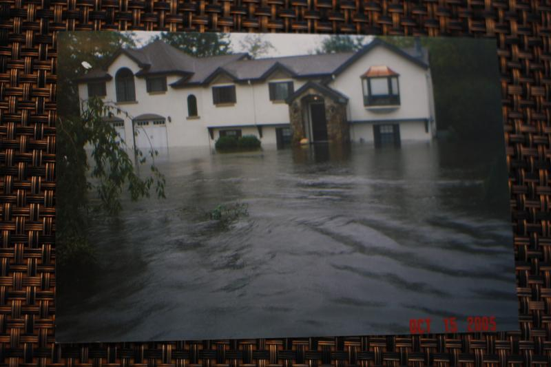 A flood in 2005 was the first catastrophic flood that affected Paul Prendergast's house in Johnston. The next one took place in 2010.