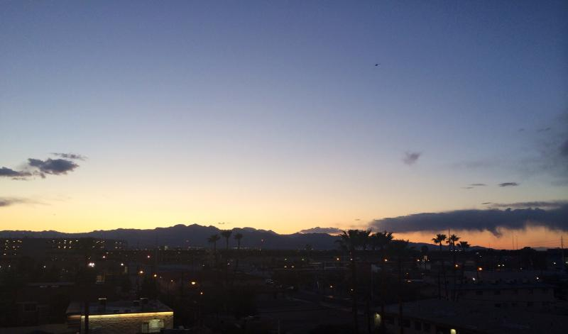 I'm actually no fan of Las Vegas, but it has its moments.  Seen from the garage at the Stratosphere Hotel & Casino.