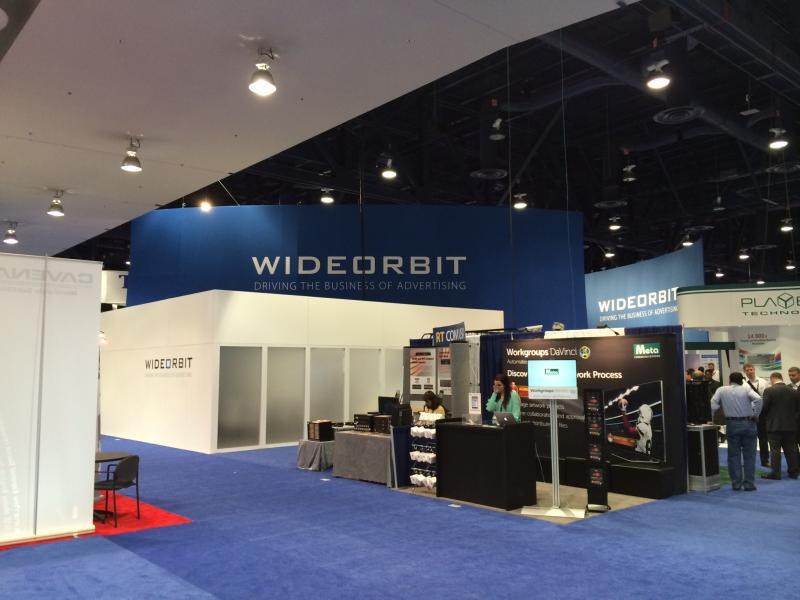 Wideorbit had a hefty booth in North Hall this year.  They make traffic software and automation systems.