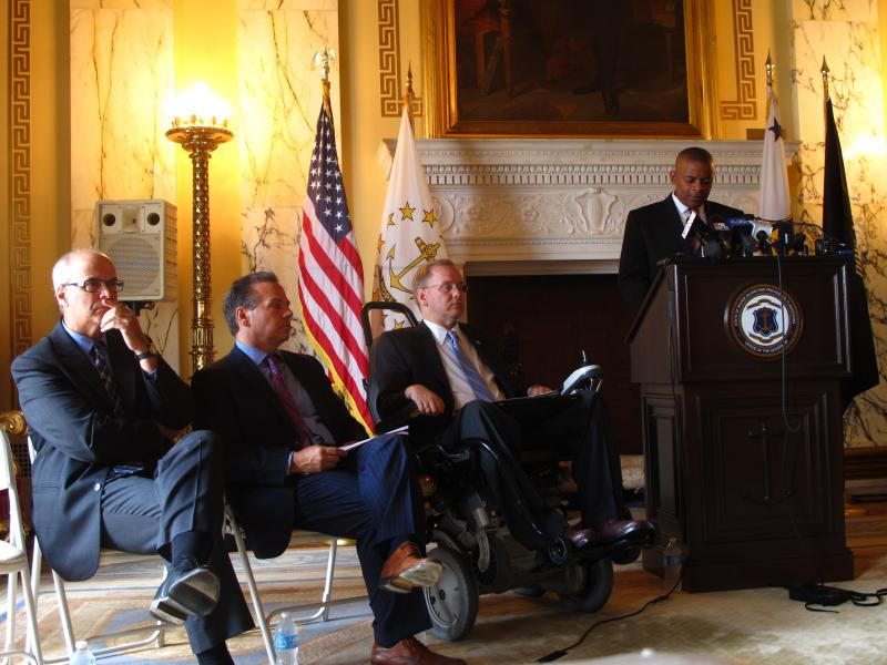 U.S. Secretary of Transportation Anthony Foxx spoke at the Statehouse to discuss the dwindling Highway Trust Fund.