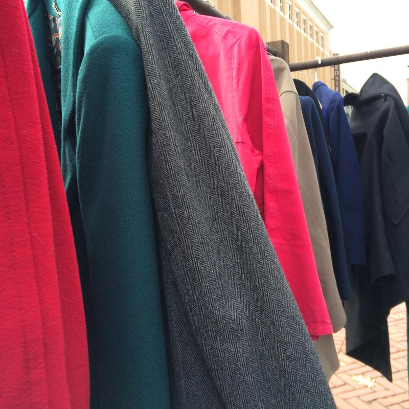 Coats were snatched up as quickly as they were hung