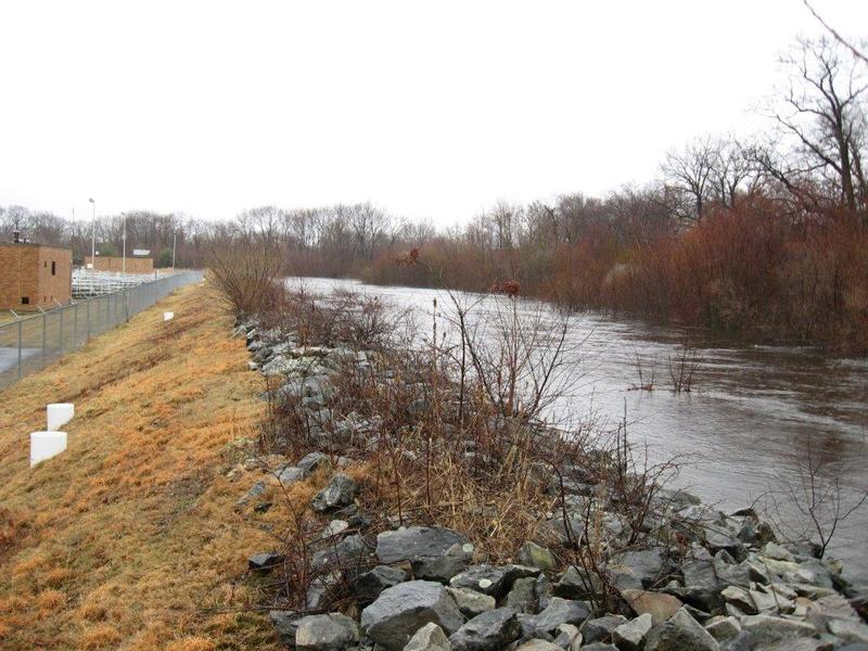 The levee had done its job of keeping flood waters at bay from the Pawtuxet River up until the Great Flood of 2010. It was able to protect the treatment facility from a smaller flood two weeks before the historic floods.