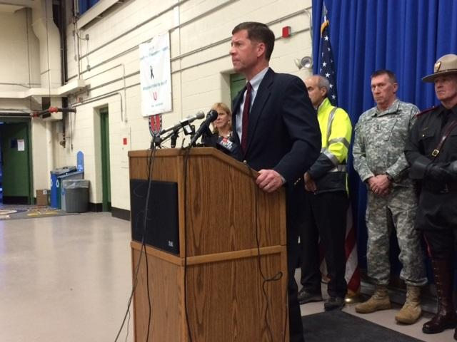 National Grid Rhode Island President Tim Horan urges residents to stay away from downed wires.