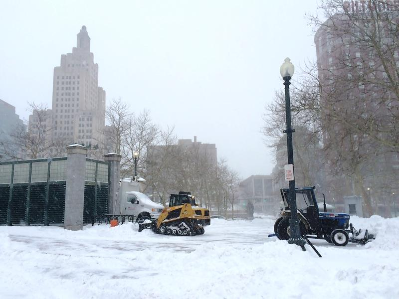 Plows ready to clear city streets in Providence