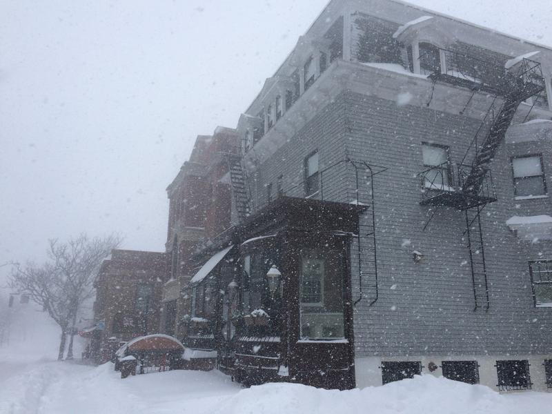 Businesses on College Hill snowed in Tuesday